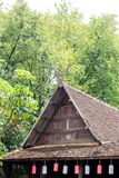 Old Traditional wooden teak house on Stilts in Chiang Mai Thaila Stock Photography