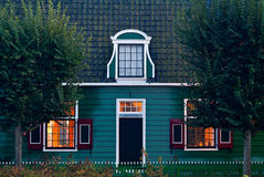 Old traditonial house at the Dutch Zaanse Schans Royalty Free Stock Photo