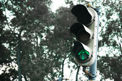 The Old Traffic Light. View of an old fashioned traffic light in a part of Petaling Jaya, Selangor, Malaysia Royalty Free Stock Photography