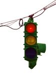 Old Traffic Light Stock Photography