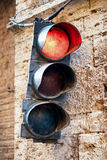 Old traffic light Royalty Free Stock Images