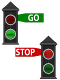 Old Traffic Lights Stock Image
