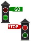 Old Traffic Lights stock illustration