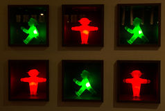 The old traffic lights of Berlin Stock Photography
