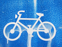 An old traffic sign , bicycle sign  Royalty Free Stock Photo