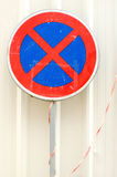 Old traffic sign Stock Photo