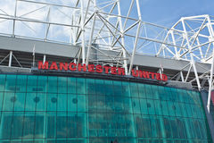 Old Trafford Football Stadium Manchester Stock Photo