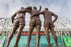 Old Trafford football stadium. Manchester, England - February 27, 2016: On 29 May 2008, to celebrate the 40th anniversary of Manchester United's first European Stock Photos