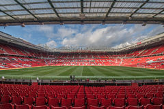 Old Trafford is home of Manchester United football club stock images