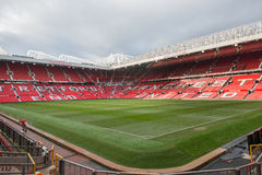 Old Trafford is home of Manchester United football club. MANCHESTER, ENGLAND - JANUARY 1, 2014 Old Trafford stadium on JANUARY 1, 2014  in Manchester, England Royalty Free Stock Photo