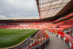Old Trafford is home of Manchester United football club. MANCHESTER, ENGLAND - JANUARY 1, 2014 Old Trafford stadium on JANUARY 1, 2014  in Manchester, England Stock Images