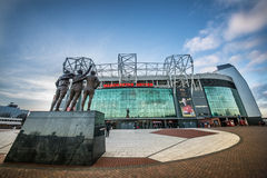 Old Trafford is home of Manchester United football club. MANCHESTER, ENGLAND - JANUARY 1, 2014 Old Trafford stadium on JANUARY 1, 2014  in Manchester, England Royalty Free Stock Images