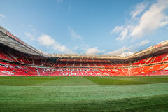 Old Trafford is home of Manchester United football club. MANCHESTER, ENGLAND - JANUARY 1, 2014 Old Trafford stadium on JANUARY 1, 2014  in Manchester, England Stock Photos