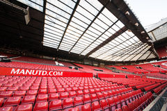 Old Trafford is home of Manchester United football club. MANCHESTER, ENGLAND - JANUARY 1, 2014 Old Trafford stadium on JANUARY 1, 2014  in Manchester, England Royalty Free Stock Photos