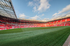 Old Trafford is home of Manchester United football club. MANCHESTER, ENGLAND - JANUARY 1, 2014 Old Trafford stadium on JANUARY 1, 2014  in Manchester, England Stock Photo