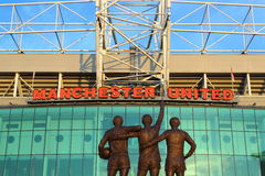 Old Trafford Stadium. Home of Manchester United Football Club Stock Image