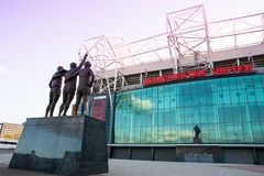 Old Trafford stadium home of Manchester United. royalty free stock photo
