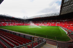 Old trafford stadium. July 28 : Old trafford on July 28, 2008 is a football stadium in Old Trafford, Greater Manchester, England, and the home of Manchester Royalty Free Stock Photography