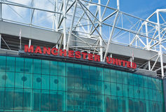 Old Trafford Stadium - Manchester United Stock Image