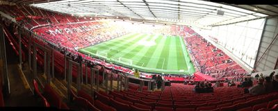 Old Trafford stadium. Panoramic view of old Trafford Royalty Free Stock Image