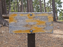 Old Trail Sign Stock Photos