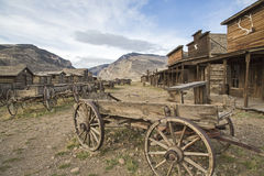 Free Old Trail Town Western Wagon Cedar Rattlesnake Mountains Royalty Free Stock Image - 38490556
