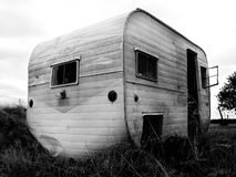 Old Trailer. Black and white of old, abandoned trailer Stock Image
