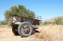 Old Trailer stock photography