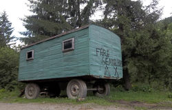 Old trailer Royalty Free Stock Photo