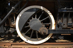 Old Train Wheel. Image taken of an old train resting at French Lick train station Stock Image