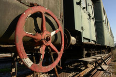 Old train. From 2nd war, Thessaloniki, Greece royalty free stock images
