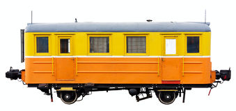 Old train. Isolated on white. Clipping path included Royalty Free Stock Images