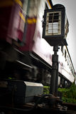 Old train. The old railroad from Bangkok to northern of Thailand royalty free stock images