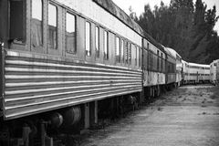 Old train in trainyard  Royalty Free Stock Photos