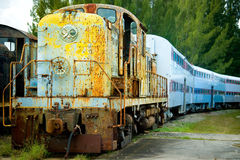 Old train and carriages Royalty Free Stock Photos