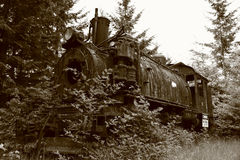 Old train abandoned Royalty Free Stock Photography