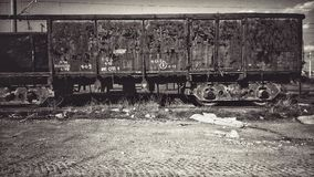 Old train. An abandoned vagon Stock Images