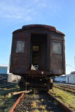 Old train in Astoria. A old abandoned train car in Astoria, Oregon royalty free stock photos