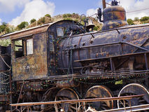 Old Train of Atchison Topeka and Santa Fe Railway in Madrid New Mexico USA Stock Photography