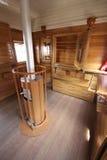 Old train bar wagon interior Stock Image