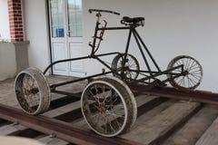 Old train bike. Closeup of a old train bike in railstation of Caldas da Rainha - Portugal Stock Photography