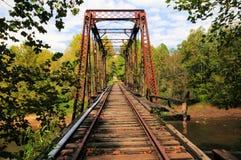 Old train bridge. Old structure of a train bridge Stock Photography