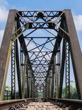 Old train bridge Royalty Free Stock Photo