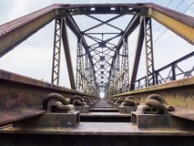 Old train bridge Royalty Free Stock Photos