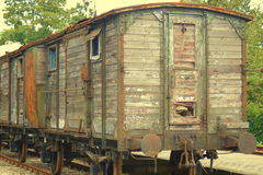 Old train cabin Royalty Free Stock Photos