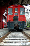 Old Train Caboose. Old red caboose stock photo