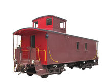 Old train caboose isolated Royalty Free Stock Photos
