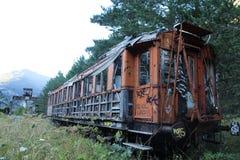 Old train. Canfranc Estación. Spanish Civil War time Stock Photography