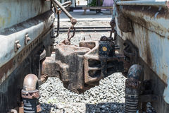 Old Train car coupler joint Royalty Free Stock Photos