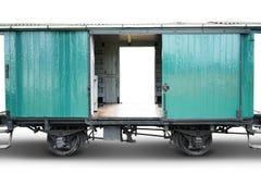 Free Old Train Cargo On White Stock Image - 65524211